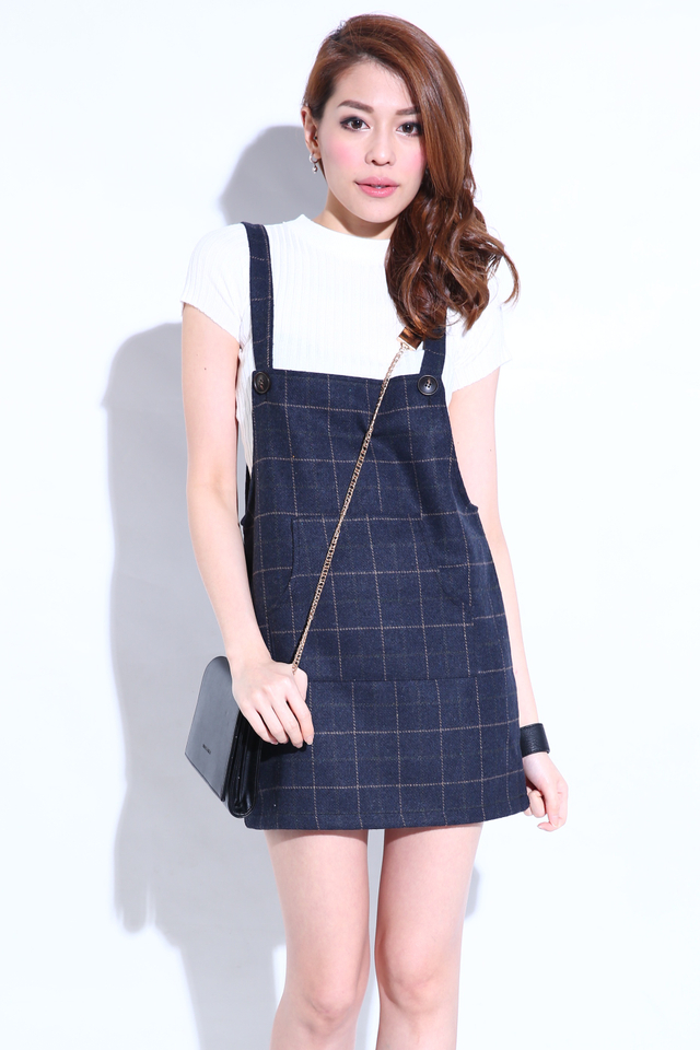 IN STOCK - DREENE WOOLEN PINAFORE IN BLACK