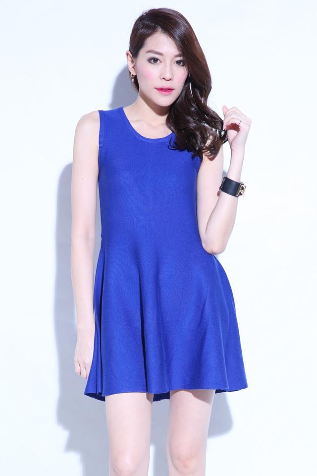 (BACKORDER) Thevesa Knit Dress in Blue