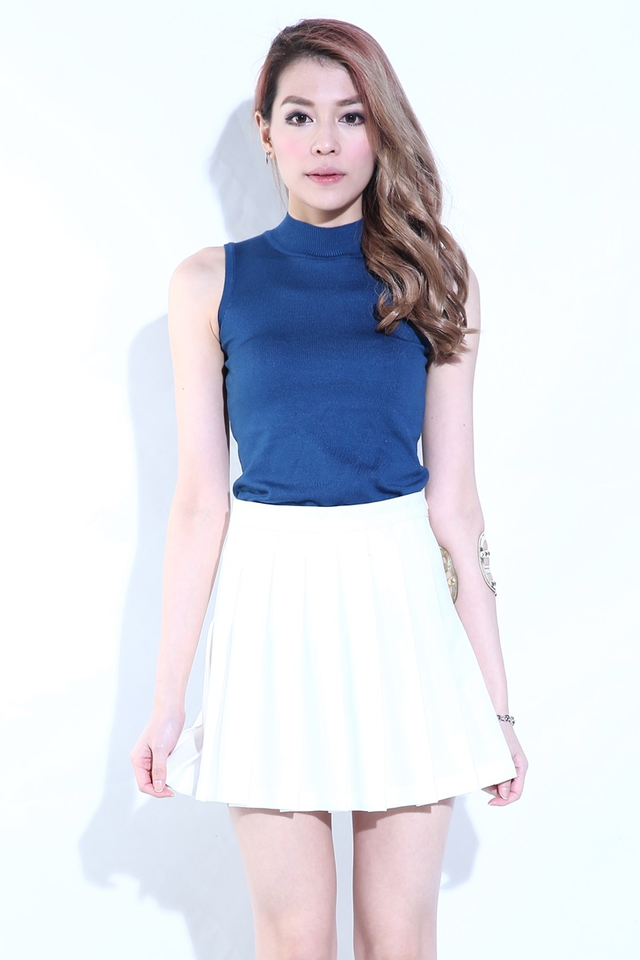 (BACKORDER)   Elite Pleated Skirt in White