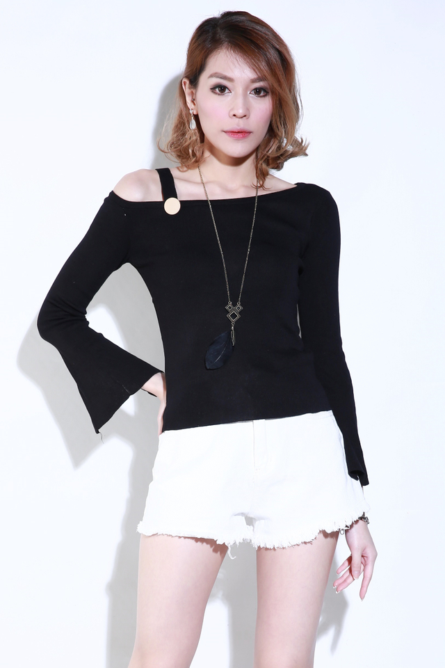 (BACKORDER) Cyrus Knit Top in Black