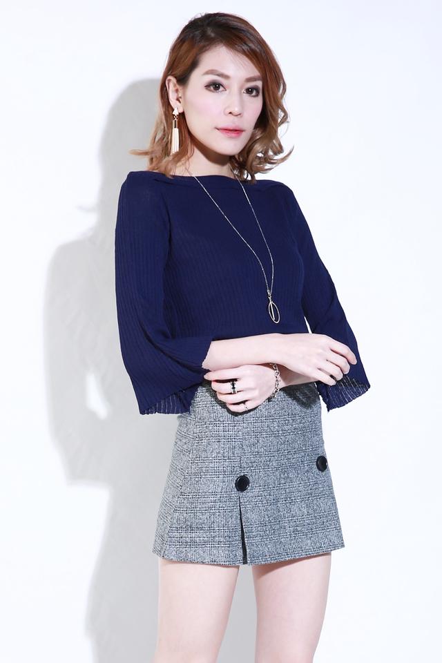 (BACKORDER) Grace Woolen Skirt in Grey