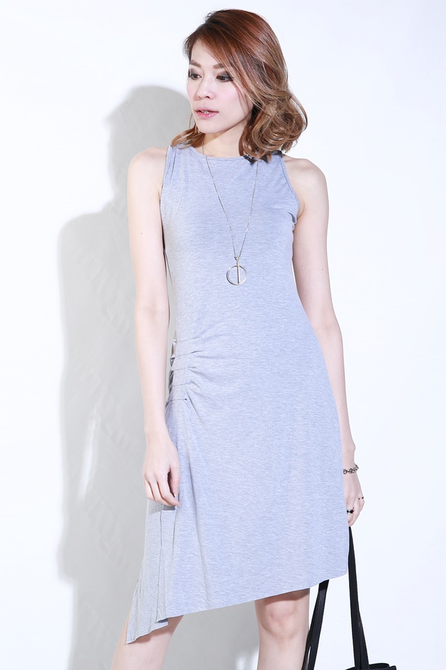 (BACKORDER)Emmie Sleeveless Dress in Grey