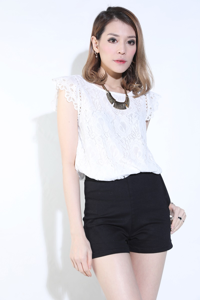 BACKORDER - Pilar Lace Top In Off White