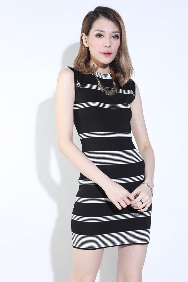 BACKORDER -Keiko Knit Dress in Black