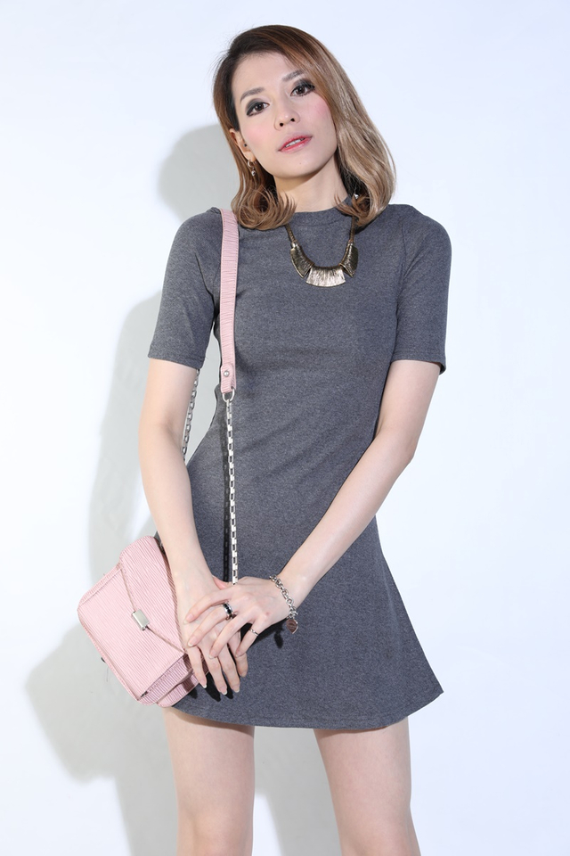 IN STOCK - DALARY A LINE DRESS IN GREY