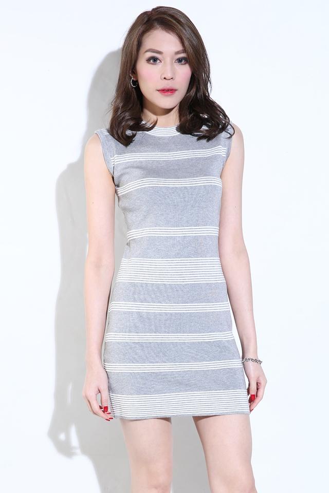 (BACKORDER) Keiko Knit Dress in Grey
