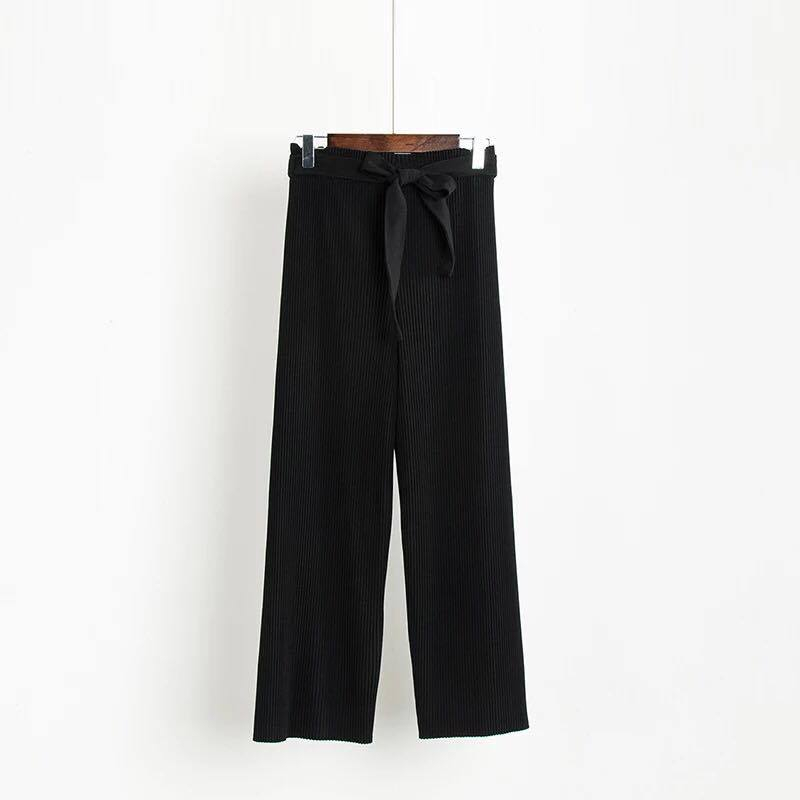 BACKORDER - Reece Pleated Belted Pants in Black