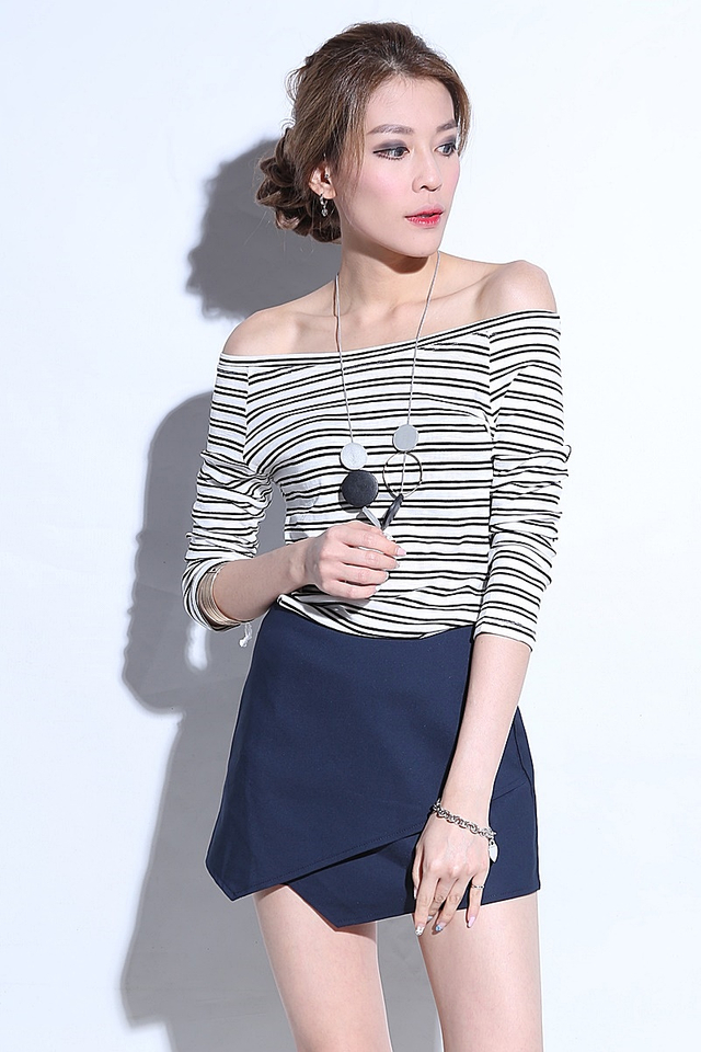 (BACKORDER) Ameyline Off Shoulder Stripe Top