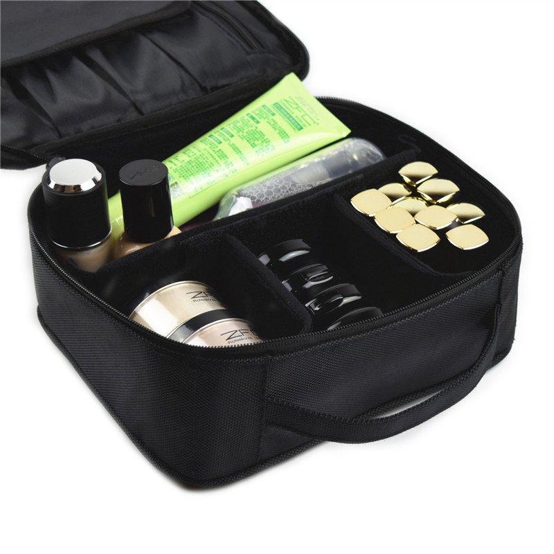 (BACKORDER) Make Up Pouch in Black (Brush Pocket Type)