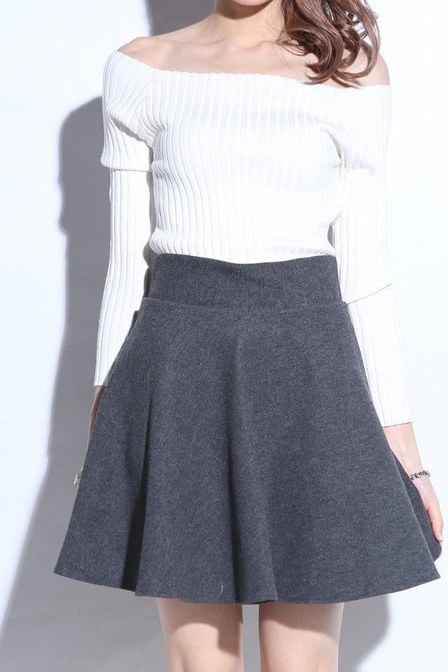 (BACKORDER) Nixon Skater Skirt With Inner Pants Grey
