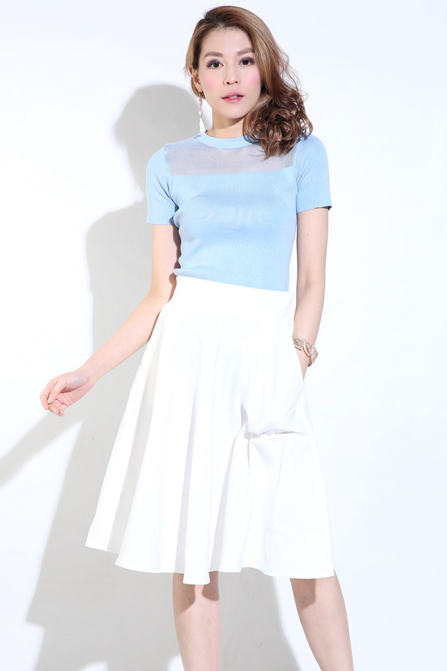 (BACKORDER) Zion Skater Skirt with pockets in White