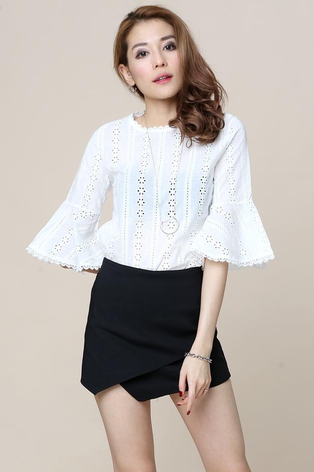 SG IN STOCK- Saxby Crochet Top in White