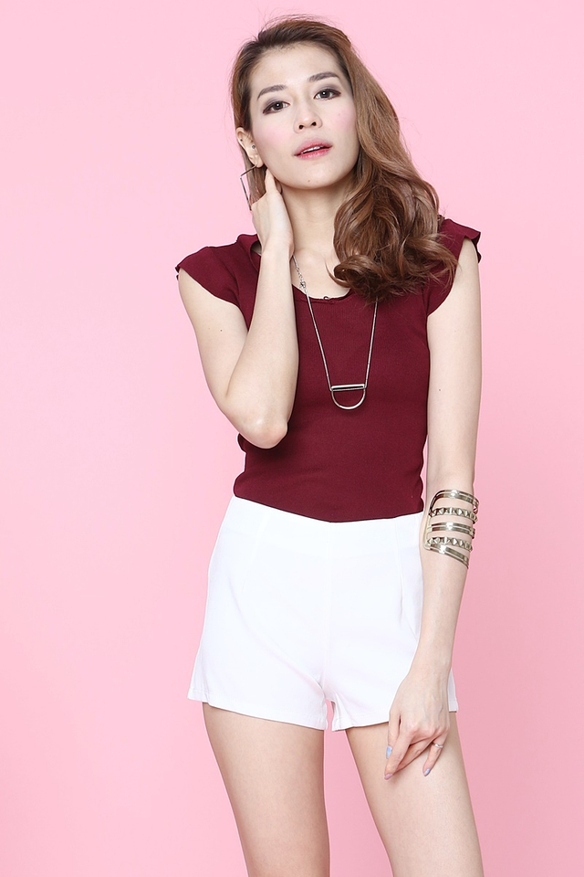 IN STOCK - IVAN KNIT TOP IN MAROON