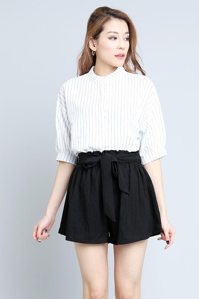 BACKORDER - Dulcia Stripes Top in White