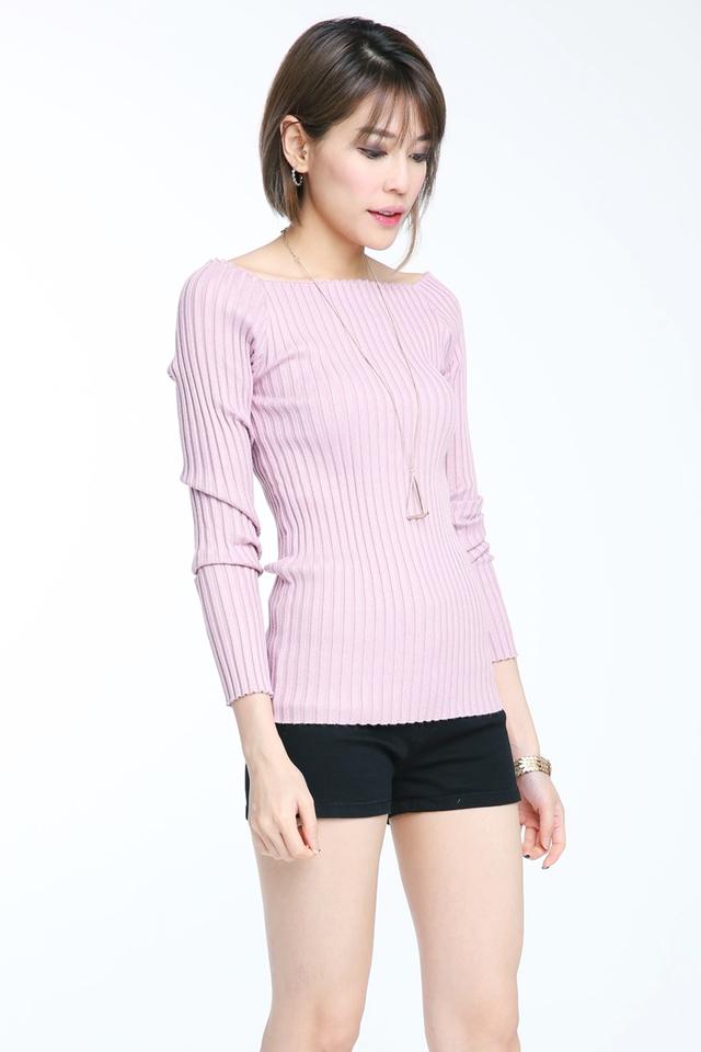 BACKORDER - Odessa Off Shoulder Top in Light Purple Pink
