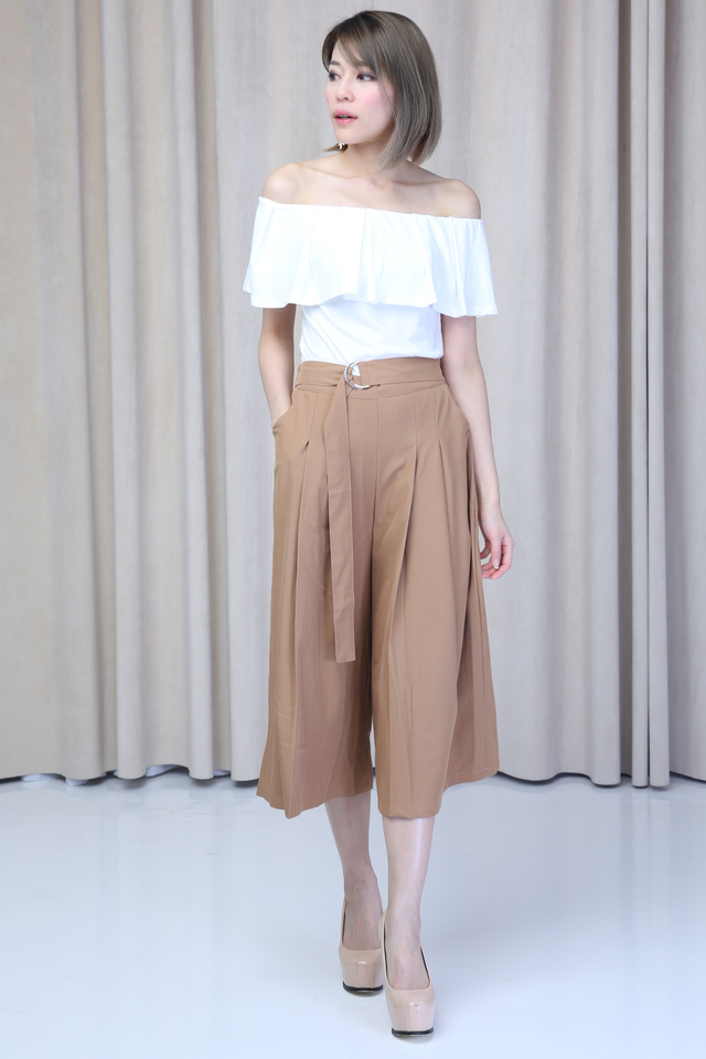 IN STOCK - TOMIO PANTS IN BROWN