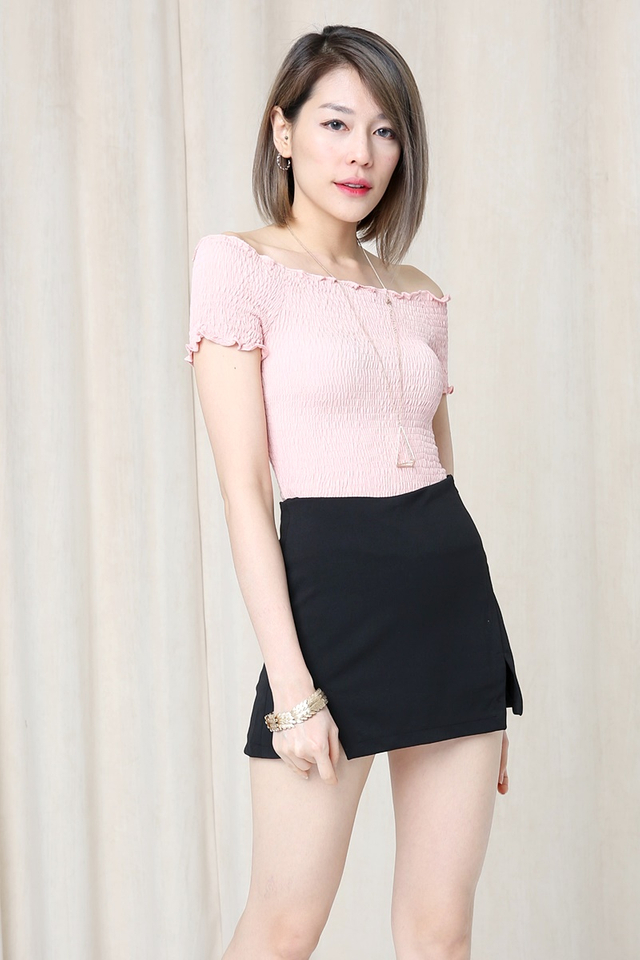 BACKORDER - Beverly Elastic Band Top in Pink