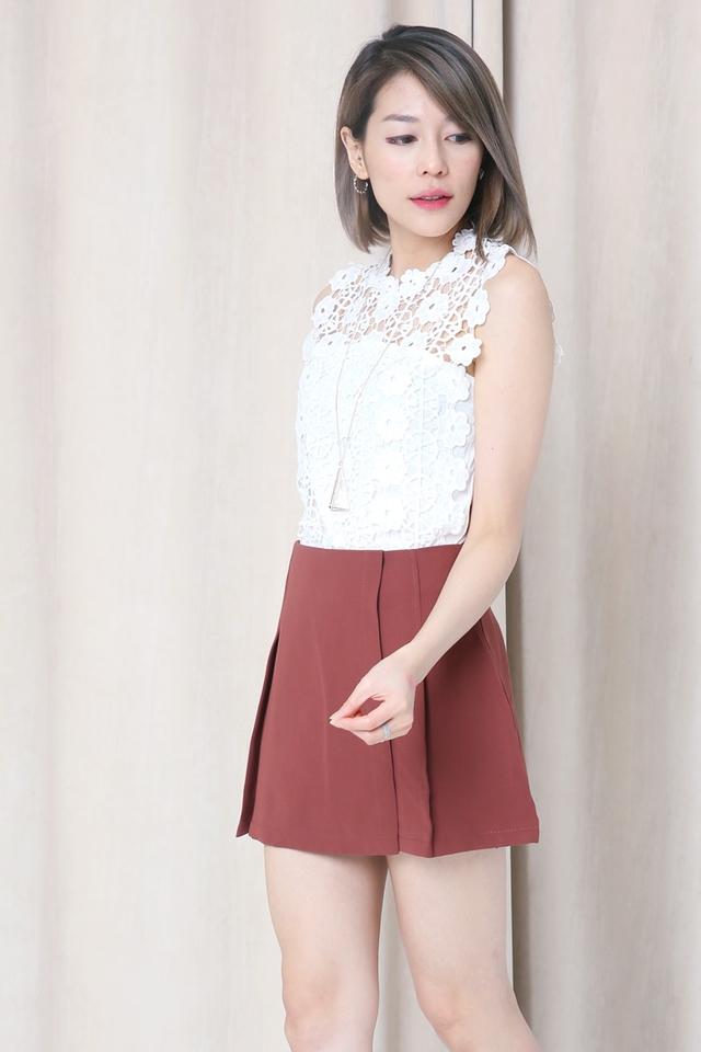 BACKORDER- Aydin Skirt in Brick Red