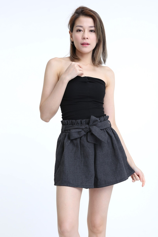 BACKORDER - TWIST KNOT TUBE TOP IN BLACK