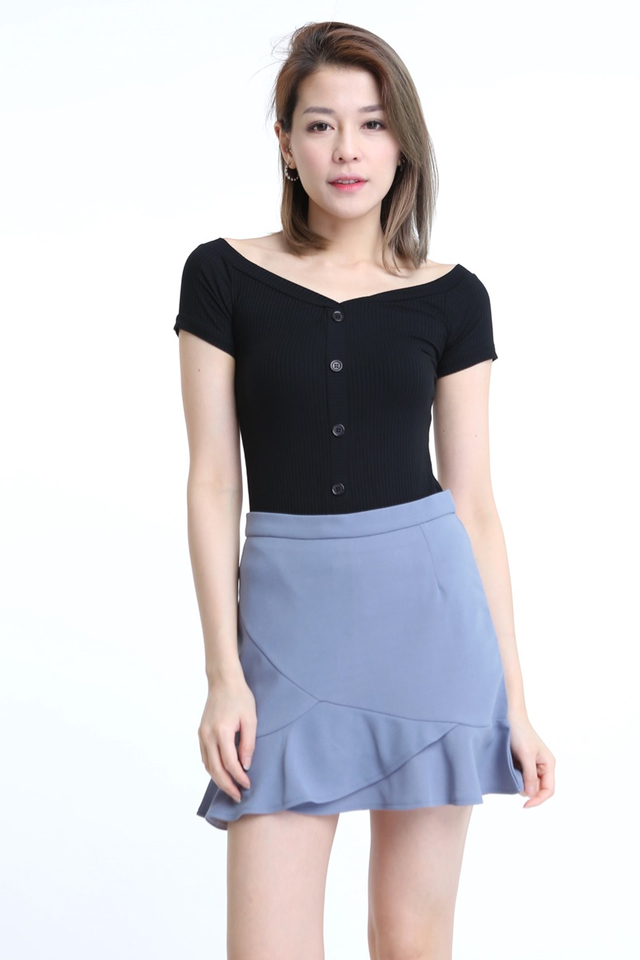 BACKORDER - ZIO TOP IN BLACK