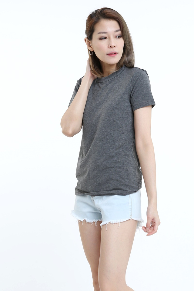 BACKORDER - LOW BACK TEE IN GREY