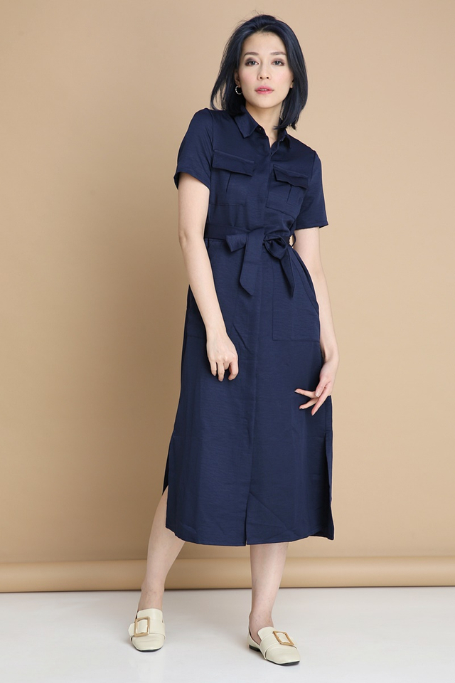 BACKORDER- TASHA LONG DRESS IN NAVY BLUE
