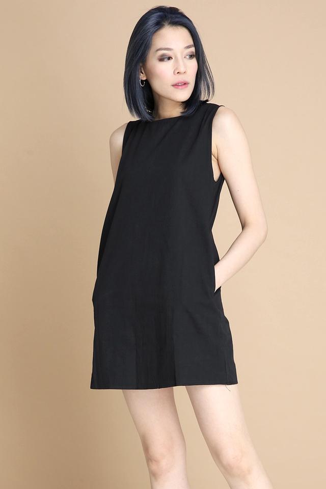 BACKORDER - BOVI SHIFT DRESS IN BLACK
