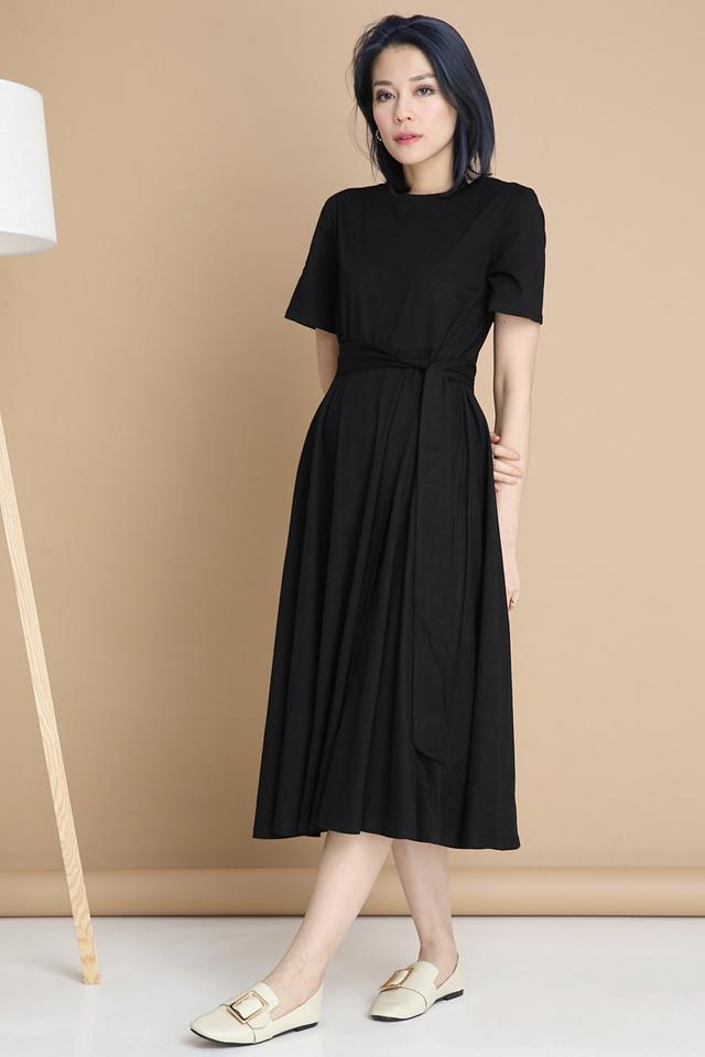 IN STOCK - BESSIE LONG DRESS IN BLACK