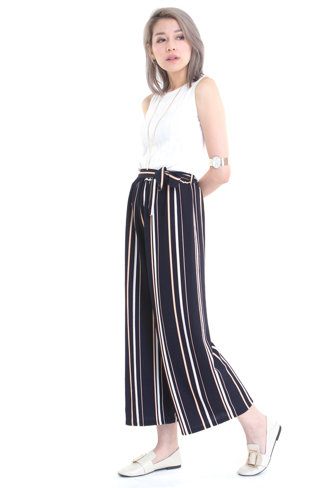 BACKORDER - LINA STRIPES PANTS IN NAVY
