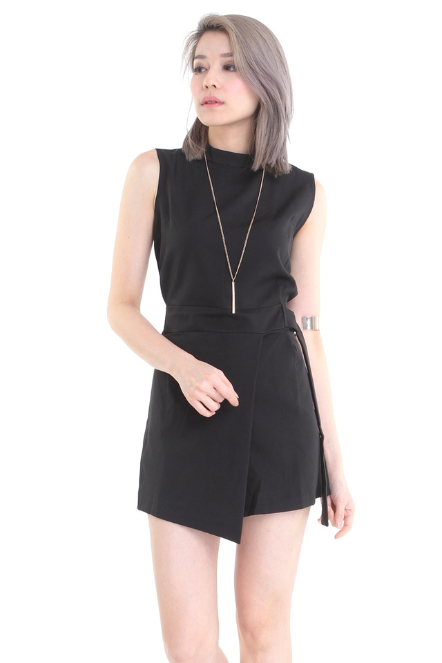 IN STOCK - SKYE ROMPER IN BLACK