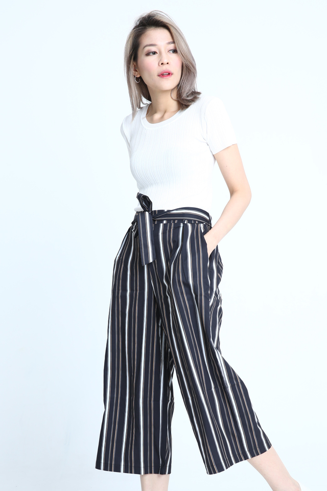 BACKORDER - NOMI STRIPES PANTS IN BLACK