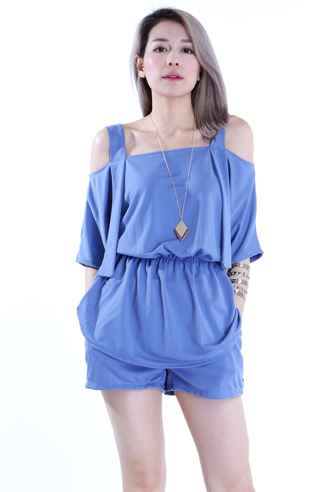 BACKORDER -EDIRA TOP AND PANTS SET IN BLUE