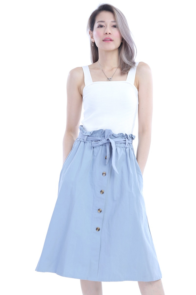 BACKORDER - DAXTON SKIRT IN BLUE