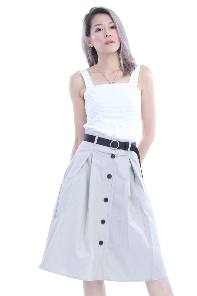 BACKORDER - ELSA SKIRT WITH BELT (BLACK BELT)