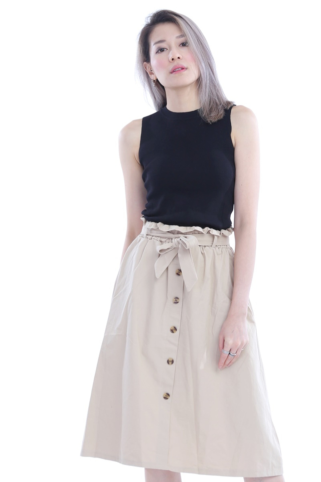 BACKORDER -DAXTON SKIRT IN BEIGH