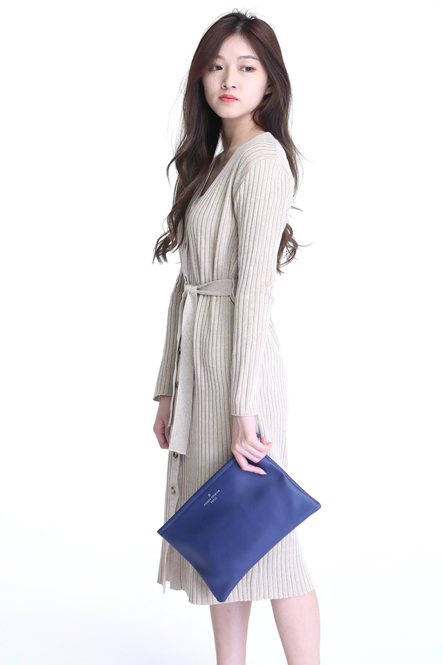 IN STOCK - BRITTANY LONG DRESS IN BROWN