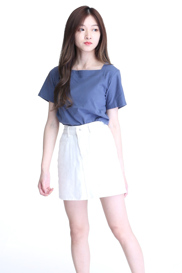 BACKORDER - CARLINA IN TOP IN BLUE