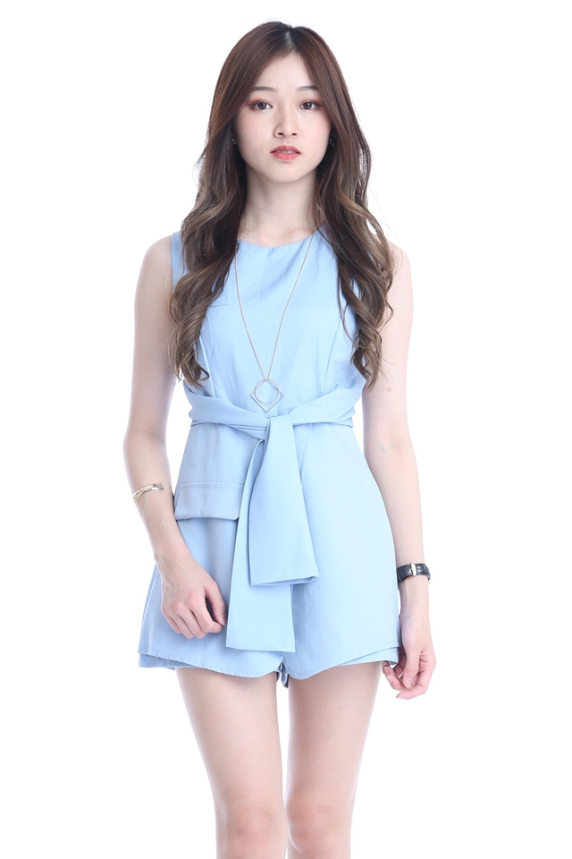 BACKORDER - LEO ROMPER IN LIGHT BLUE