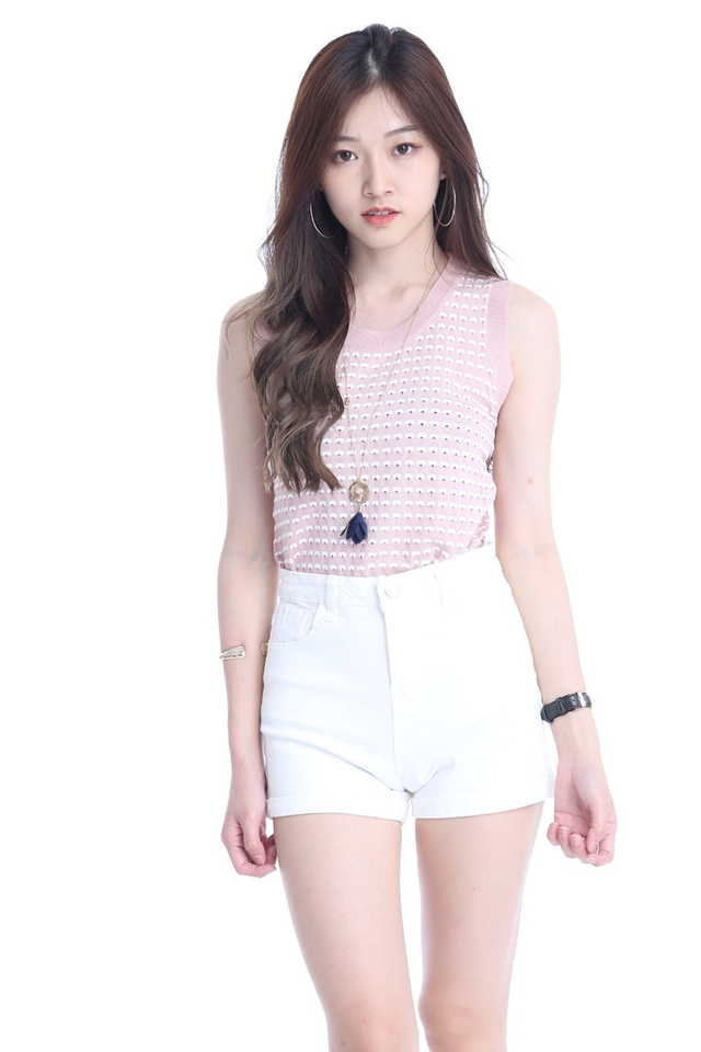 IN STOCK - HAYES KNIT TOP IN PINK
