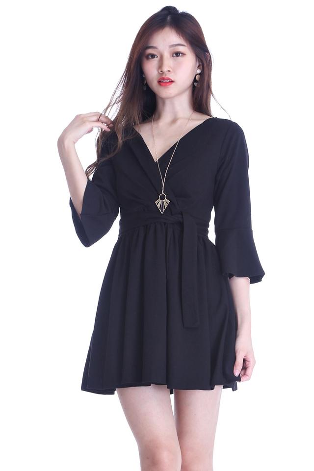 SG IN STOCK - VIVA DRESS IN BLACK