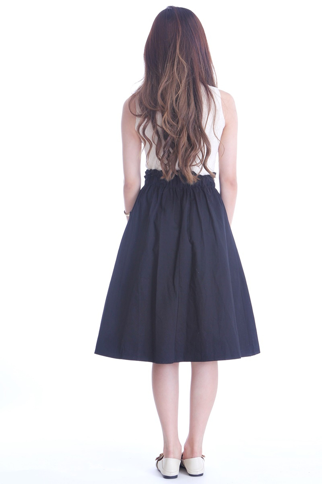BACKORDER- ALISA SKIRT IN BLACK