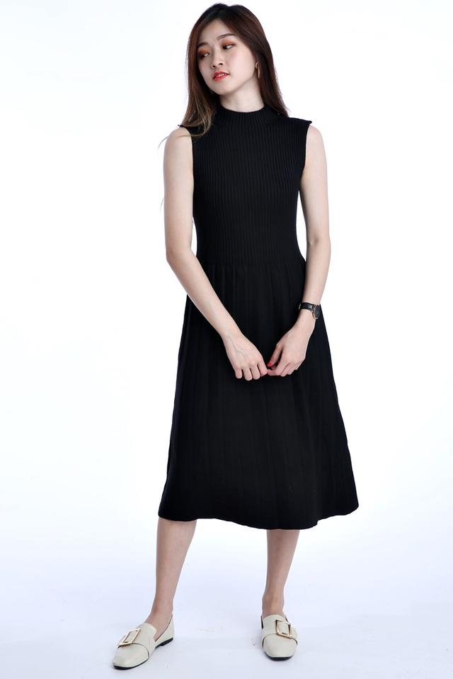 BACKORDER-  AXEL KNIT DRESS IN BLACK