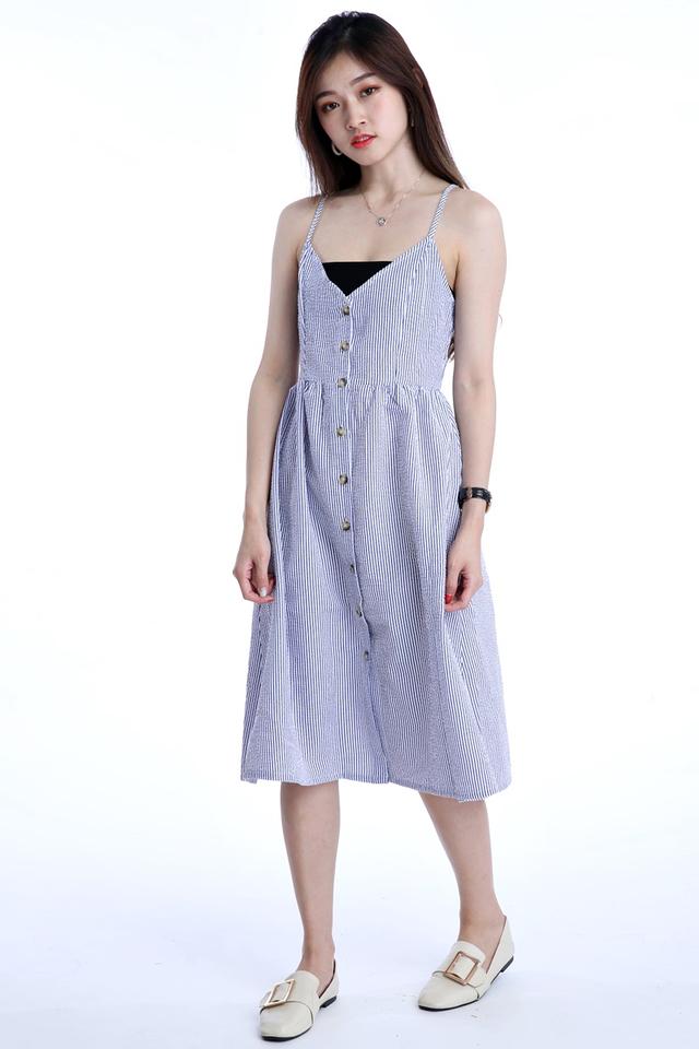 IN STOCK - DESIRE STRIPES DRESS IN BLUE WHITE