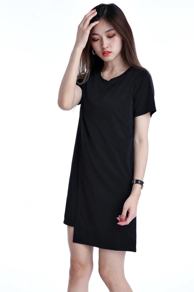 IN STOCK - DAWN SHIFT DRESS IN BLACK