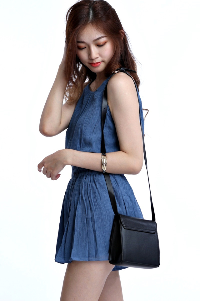 BACKORDER - YVONNE BOX BAG IN BLACK