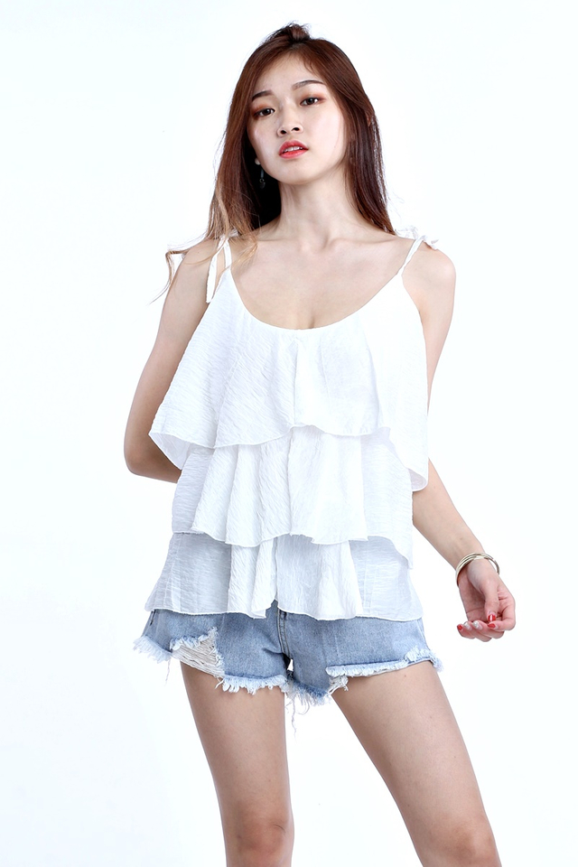 BACKORDER - LAYERED TOP IN WHITE