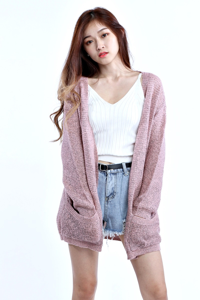 BACKORDER - PICO OUTER CARDIGAN IN PINK
