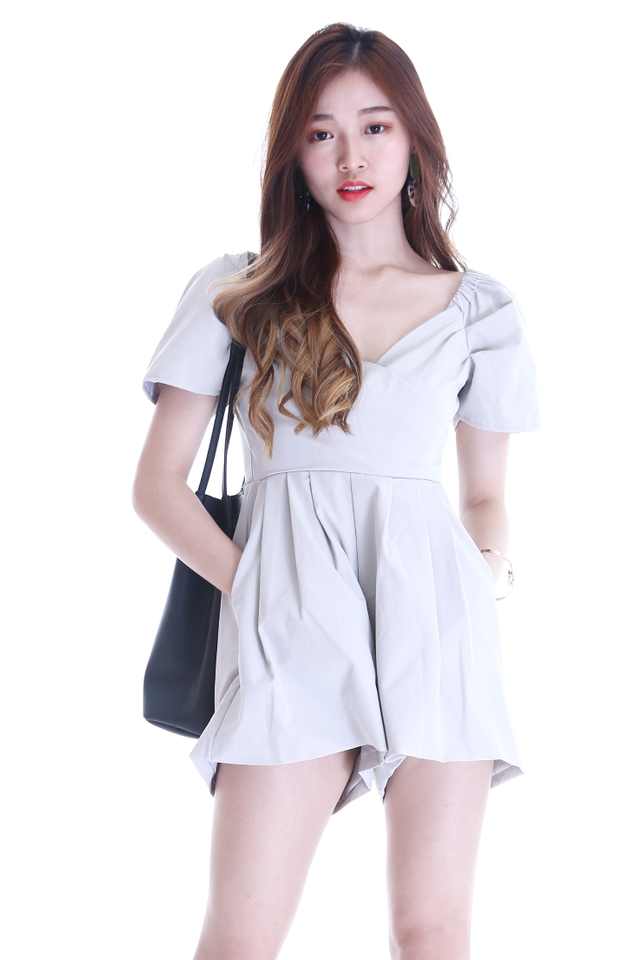 IN STOCK - MIKA ROMPER IN GREY