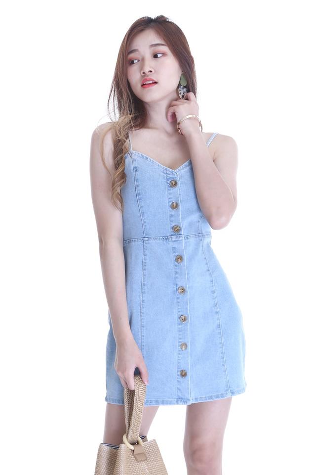 SG IN STOCK -AMANDA DENIM DRESS IN BLUE