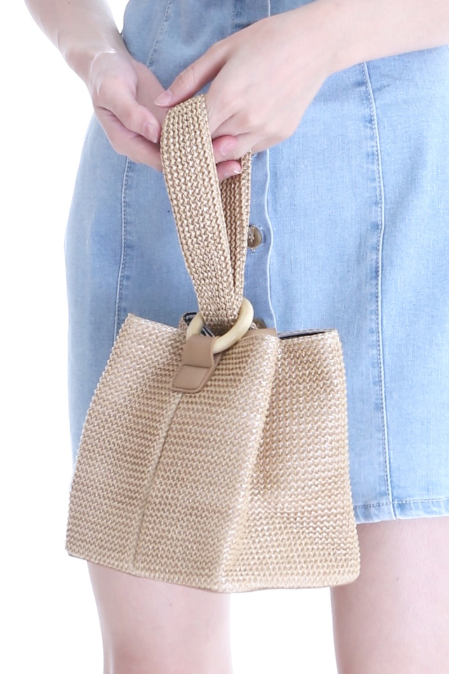 BACKORDER - VIOLA WOVEN SMALL BAG IN BROWN